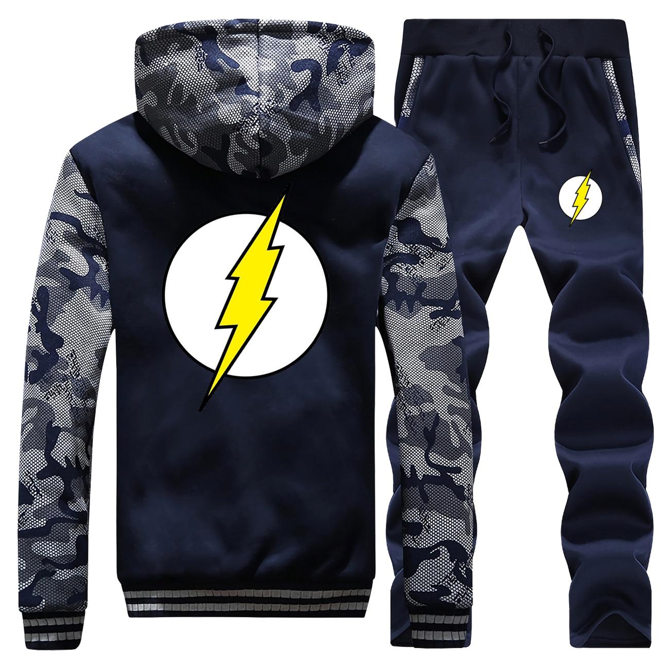 Männer Die Big Bang Sportswear Sheldon Lee Cooper Cosplay Camoflage Jacken Die Flash Super Hero Mode männer Sets jogginghose