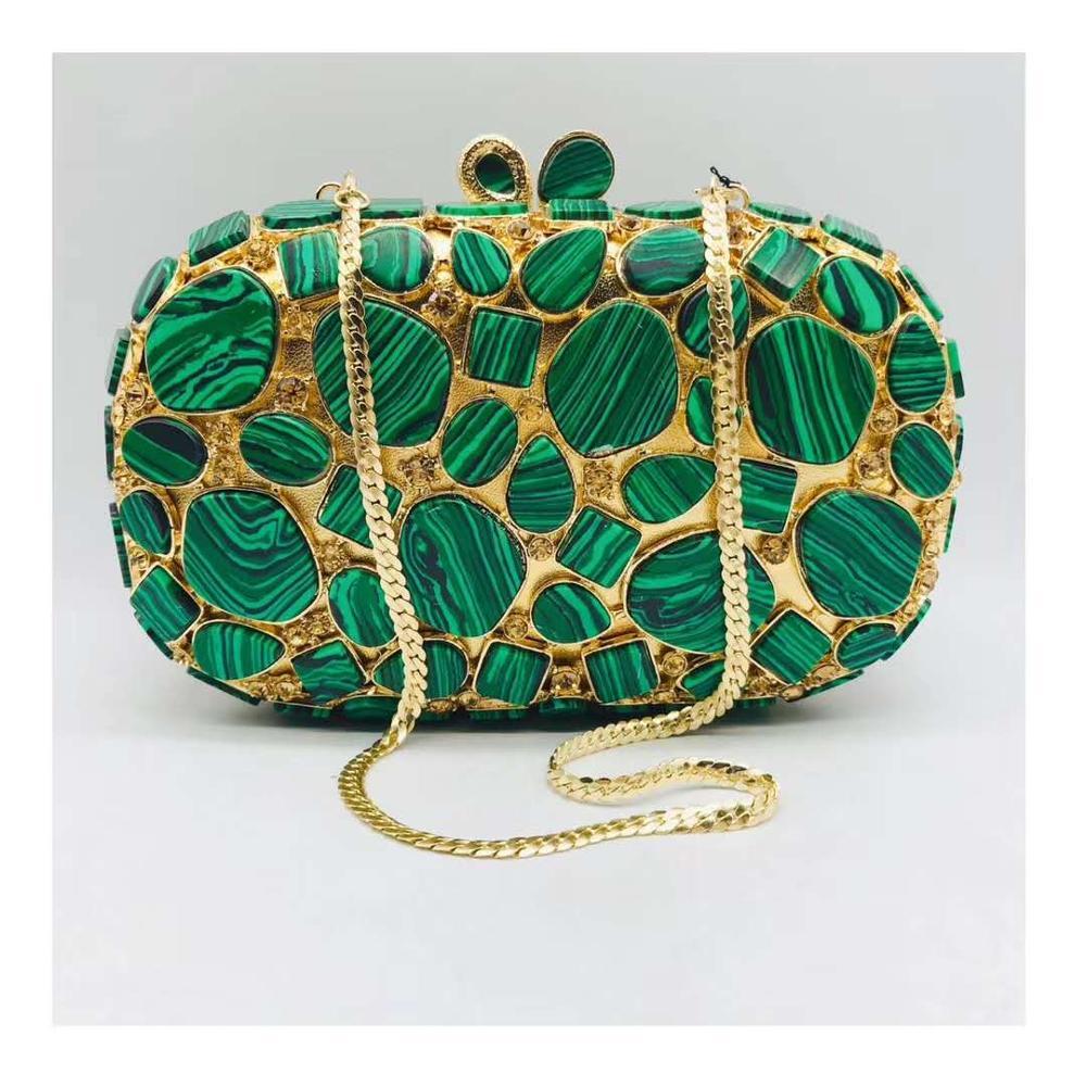 حقيبة يد نسائية فاخرة من حجر الراين الأخضر ، حقيبة كتف نسائية ، حقيبة صغيرة للحفلات الراقصة