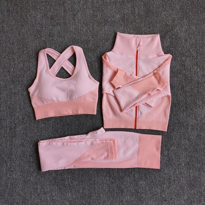 Maycaur sutiã esportivo feminino hiper-térmico e leggings de cintura alta e zip superior suor-wicking ginásio treino e treinamento outfit
