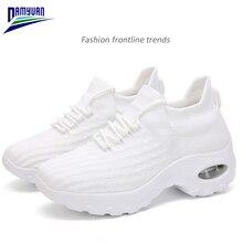 Damyuan chaussures plates femmes doux marche mocassins Zapatos De Mujers plate-forme coussin dair respirant baskets dames Tenis Feminino