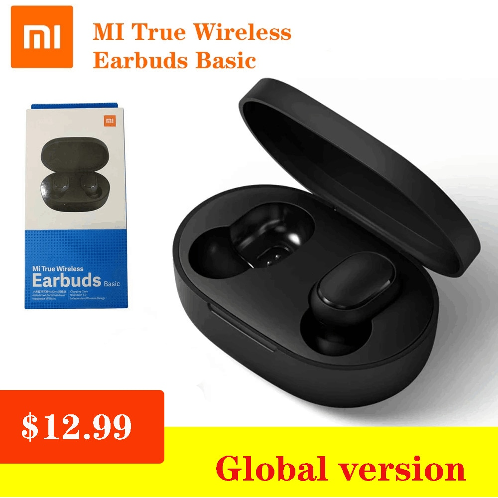 Xiaomi Redmi Airdots Earbuds basic Version 5.0 TWS Wireless Bluetooth Earphone Sport Noiseing Reduction Mi Ture Earbuds Headset