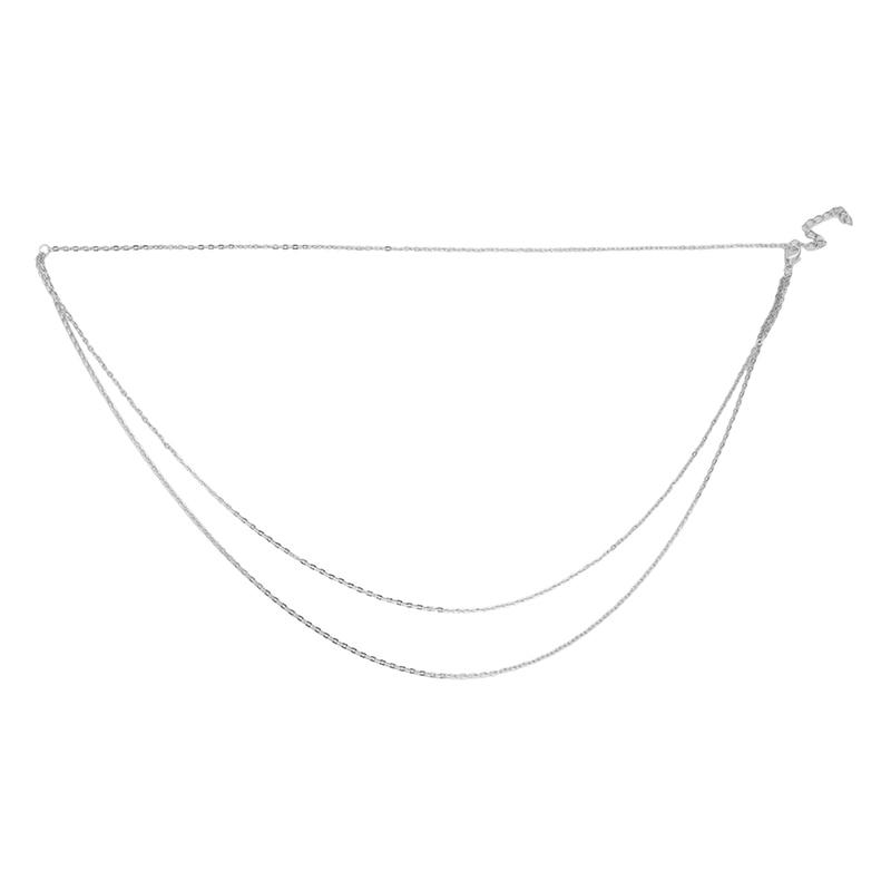 Цепочка-Женская-двухслойная-золотистая-серебристая-пикантное-модное-ожерелье-Бикини-на-талию-Ювелирное-Украшение-для-тела-летний-аксесс