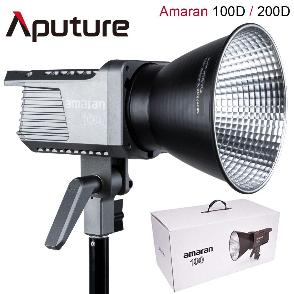 Aputure أماران 100D 200D LED فيديو 130 واط CRI95 + TLCI96 + 39,500 لوكس @ 1 متر بلوتوث App التحكم 8 تأثيرات الإضاءة تيار مستمر/مصدر كهرباء بتيار ترددي