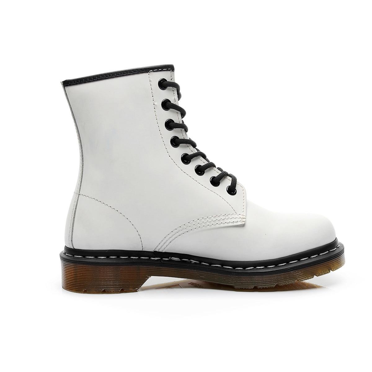 Marca de 6 colores Botines de Cuero, botas de Otoño Invierno para mujer y hombre, trabajo exterior para motocicleta botas negras, botas de nieve, zapatos para hombre
