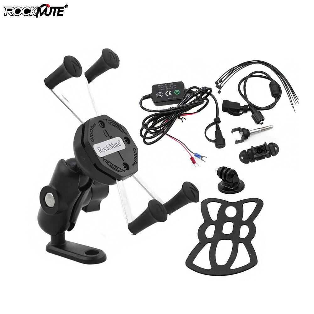 Soporte de teléfono cargador USB para KTM 125 DUKE 200 390 690 DUKE R motocicleta acción Carema GPS soporte de montaje de navegación