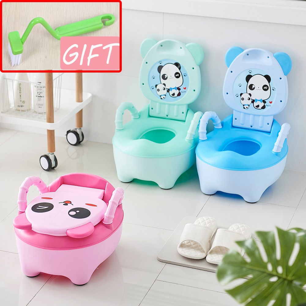 AYRA Baby Potty Training Toilet Seat Comfortable Backrest Cartoon Pots Portable Baby Pot For Children Potty Toilet Bedpan