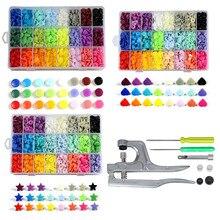 T5 boutons en plastique avec boutons pression ensemble de pinces pour vêtements couture, bavoirs, manteau de pluie artisanat-bricolage outils faits à la main (organisateur Floral)