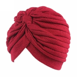 For Ladies Sleep Hat Thread Thickened Headscarf Cap Chemotherapy Loss Hair Cover Hijab Fashion Elastic African Indian Muslim