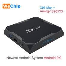 X96 max plus android 9.0 caixa de tv 4 gb ram amlogice s905x3 2 gb 16 gb 8 k player de vídeo 2.4g & 5 gduplo wifi youtube hd 1000 m inteligente x96max