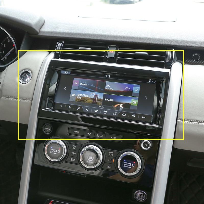 Caja de navegación Interior de cromo ABS negro brillante, moldura de cubierta de marco para Land Rover discotecas 5 LR5 L462 2017-2018, accesorios para coche