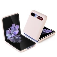 luxury case for samsung galaxy z flip all inclusive solid color flip phone case cover for galaxy z flip case