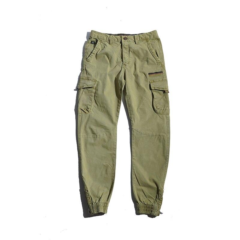 Мужские брюки-карго GlacialWhale, мужские брюки-карго с боковыми карманами 2021 года, мужские модные японские уличные брюки, брюки-карго цвета хаки, ...