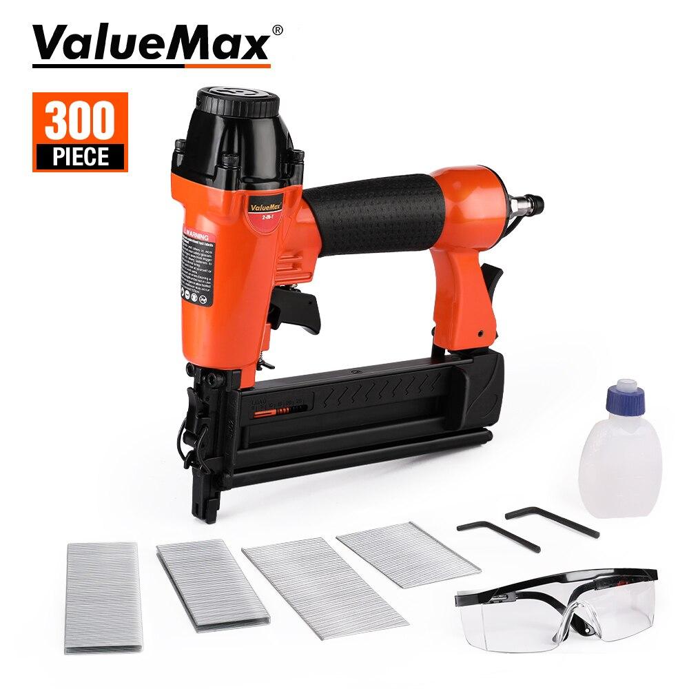 ValueMax 2 in1 Air Nail Gun Furniture Pneumatic Gun Wood Frame Stapler Pneumatic Tool Power Tools with 400pc Staples
