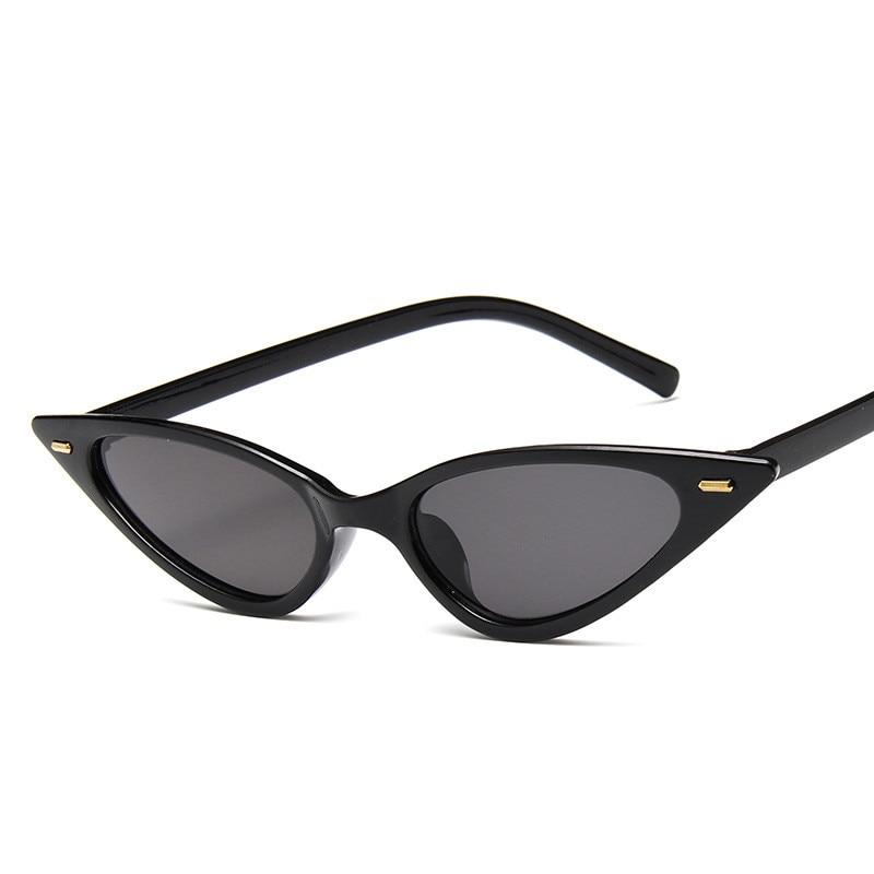 Women Vintage Cat Eye Sunglasses New Fashion Cute Sexy Ladies Cat Eye Sunglasses Female Lunette Sun