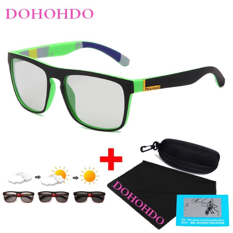 DOHOHDO Men Photochromic Sunglasses Male Polarized Driving Sun Glasses Women Sports Goggles Change C