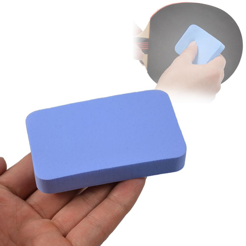 Raqueta de tenis de mesa azul, esponja limpiadora de goma para el cuidado de tenis de mesa