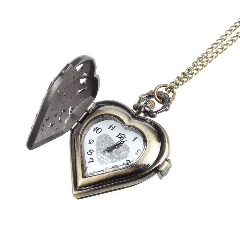 High Quality Pocket Watch Hollow Pocket Watch Bronze Fob Watch Men Women Relogio feminino Pendant Necklace Gifts