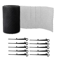 roof gutter guard mesh protector leaf protection cover netting plastic gutter net overflow cleaning tool for roof accessories