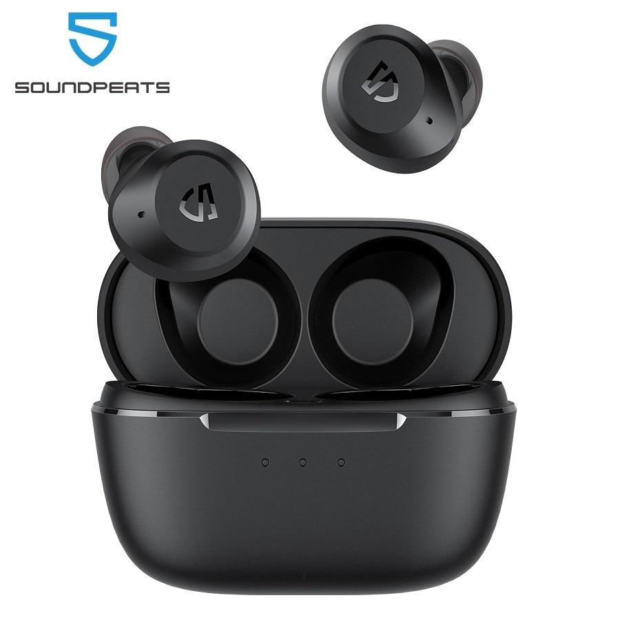 SoundPEATS T2 الهجين نشط إلغاء الضوضاء سماعات لاسلكية ANC بلوتوث سماعات مع 12 مللي متر كبير وضع الشفافية سائق