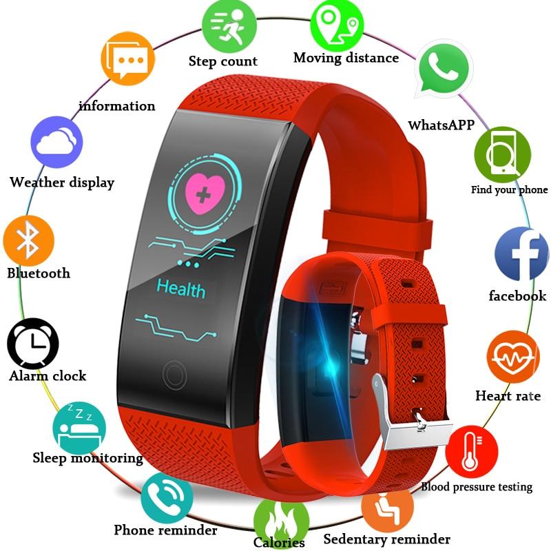 LIGE New Smart Watch Intelligent Sport Bracelet Fitness Sleep Tracker IP67 Pulse Watch Outdoor Smart Band Health Band Relogio