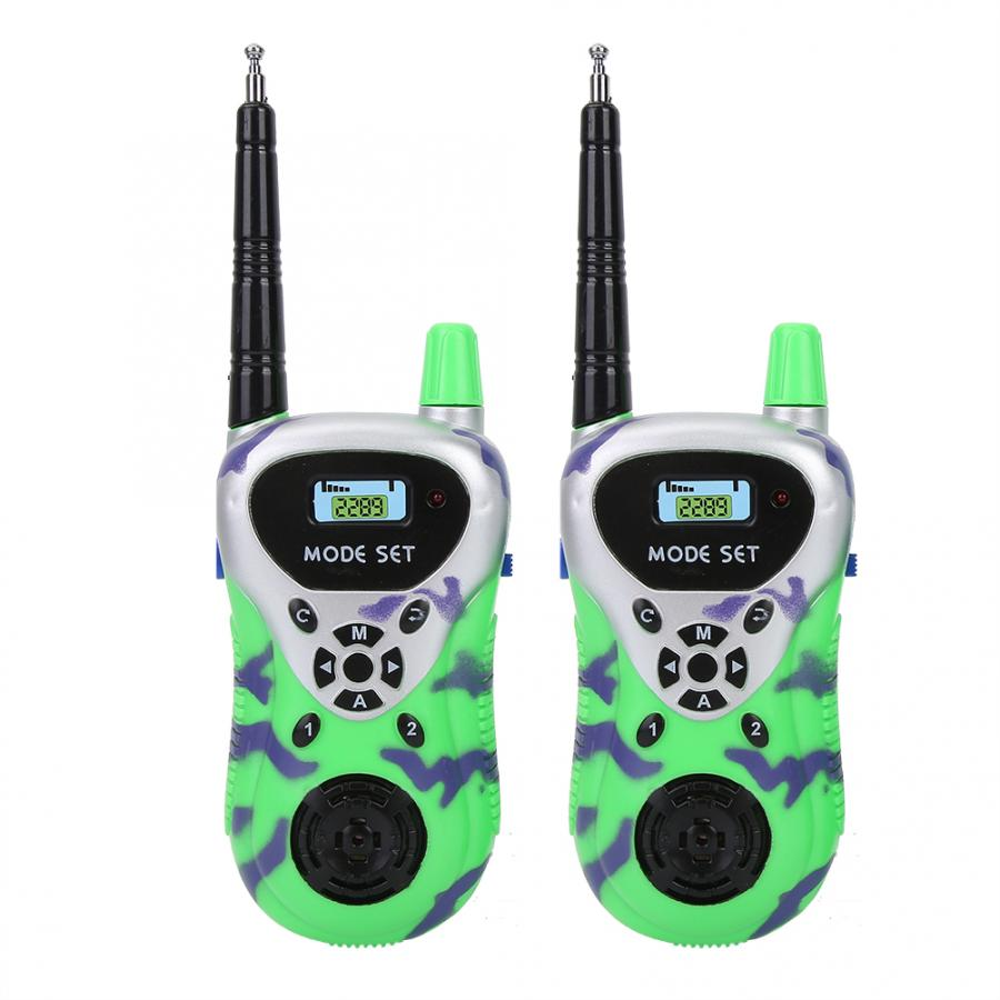 2pcs Range Baby Walkie Talkie Toy Remote Radio Voice Easy Call Walkie Talkie Toy Kids Children Outdoor Communicator Toy