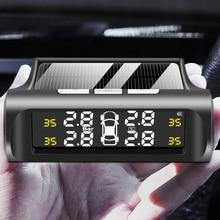 New Tire Pressure Monitoring System Smart Car TPMS Solar Digital TMPS LCD Display USB Car Security A