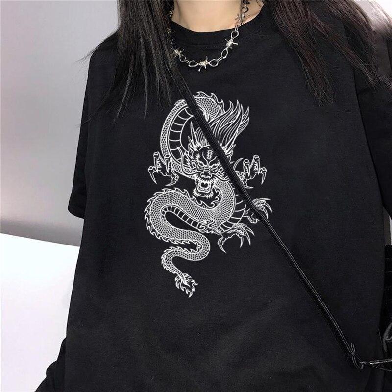Summer Fashion Casual T-shirt Funny Cartoon 90s T-shirt Korean Aesthetic Harajuku T-shirt Women Ullzang Retro Graphics
