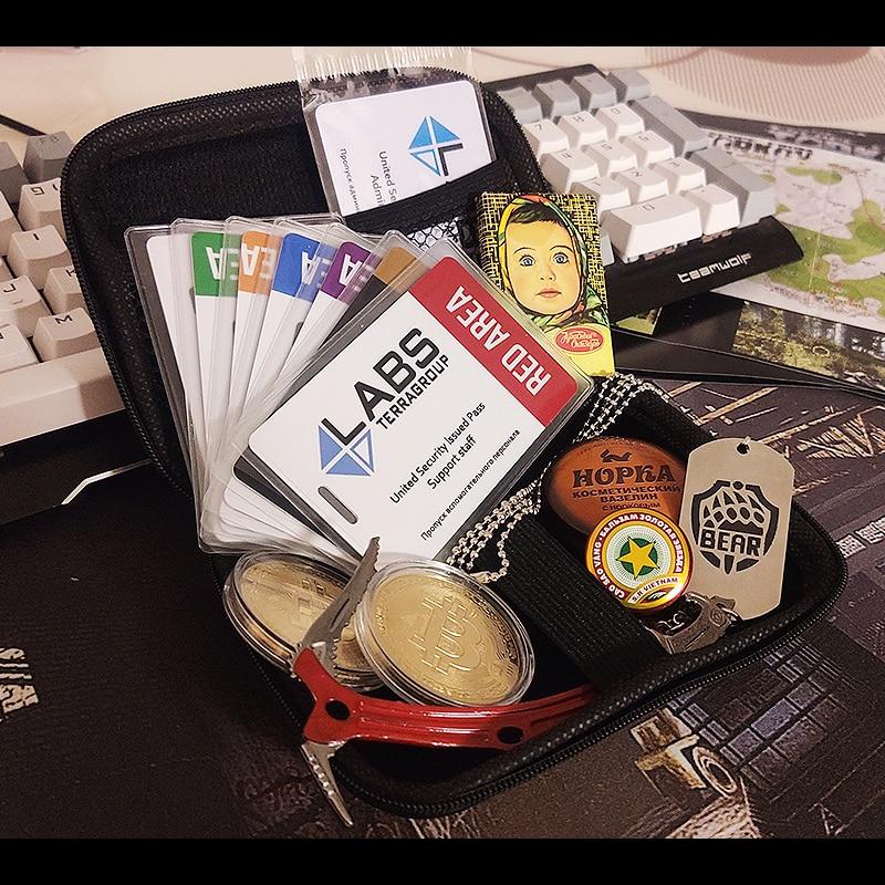 الهروب من تاركوف بطاقة مفتاح بطاقة دخول الأحمر الأزرق الأصفر البنفسجي منطقة 21ws # 11sr بيتكوين الفازلين مع صندوق الدب