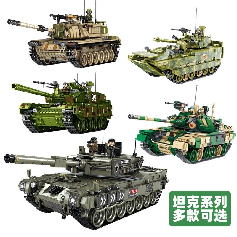 Military tanks Building Blocks Israel M60MAGACH 1753pcs large diy model toys world war battle tank /german LEOPARD 2 collection