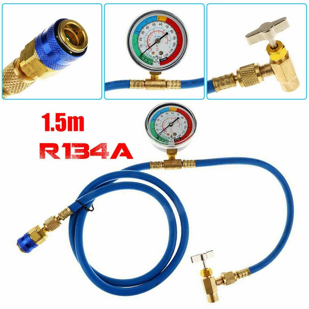 Шланг R134A A/C для кондиционера, перезаряжаемый хладагент, шланг 1,5 м, комплект датчика газа