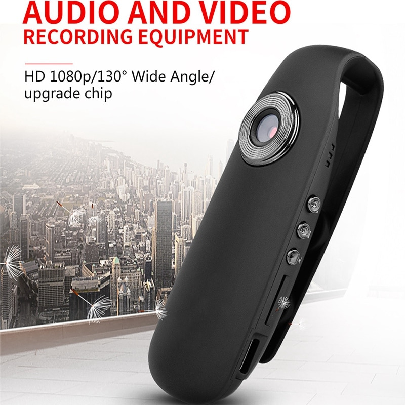 1080P HD Video cámara portátil Digital Video grabadora visión nocturna Clip trasero Mini cámara DVR en miniatura