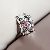 authentic 925 sterling silver bead new lucky fortune cat fashion beads fit original pandora bracelet for women diy jewelry