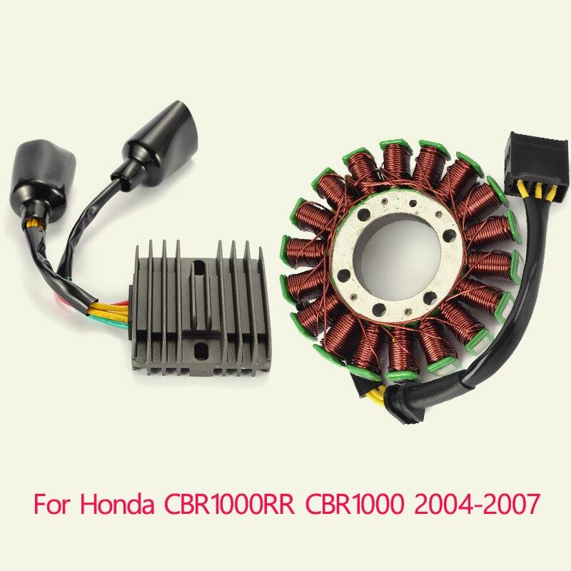 معدل منظم 12 فولت ومجموعة ملف الجزء الثابت للدراجات النارية, لهوندا CBR1000RR CBR1000 2004 2005 2006 2007 CBR 1000 1000RR 04-2007