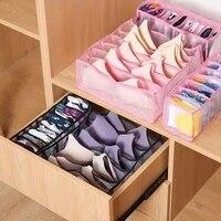 bra storage boxes underwear clothes organizer drawer nylon divider closet organizer for folding ties socks shorts organizer