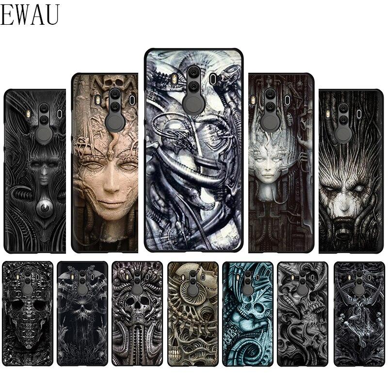 EWAU Hr Гигер Li II силиконовый чехол для телефона для huawei Y6 Y7 Y9 Prime Коврики 10 20 30 Lite Pro Nova 2 2i 3 3i 4 5i
