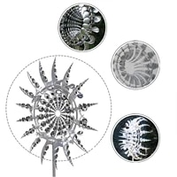 unique and magical metal windmill solar wind spinner catcher kinetic metal wind spinners outdoor garden decoration