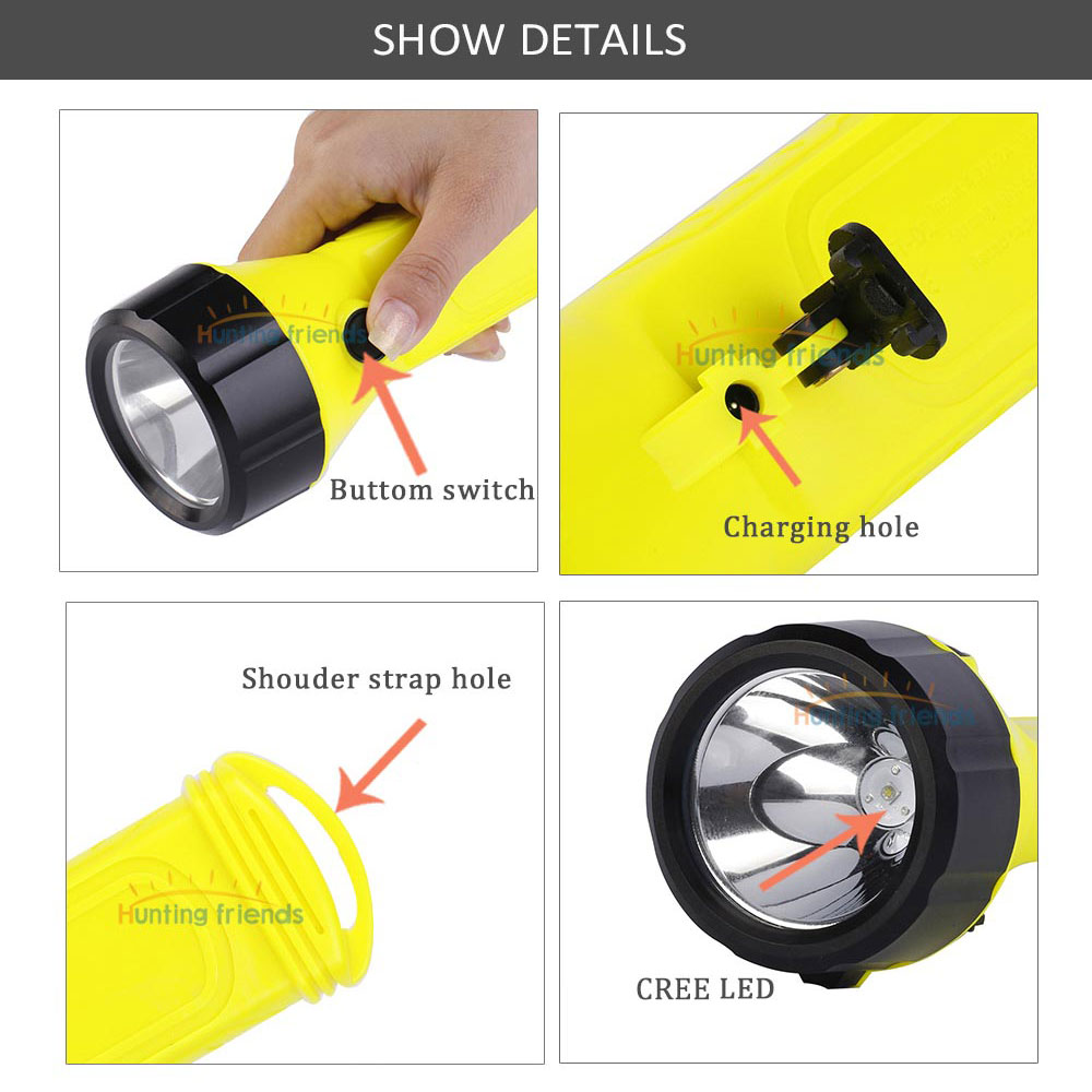Super Bright 3 mode LED Explosion-proof flashlight Mining Handheld Flashlight Searchlight Rechargeable 18650 Battery Included enlarge
