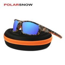 POLARSNOW 2020 Top Quality Brand Camo Frame Sun Glasses Polarized Lens Men Fishing Sports Sunglasses
