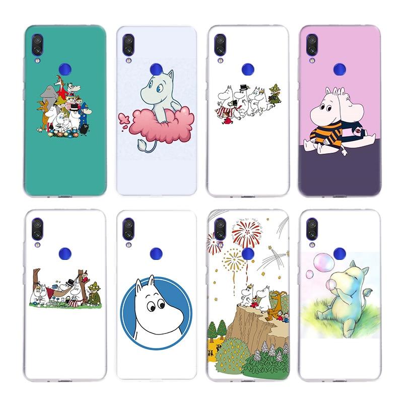 De dibujos animados lindo hipopótamo moomin de sílice caso por Xiaomi Nota 10 9 8 lite A3 5X 6X CC9 CC9E 9SE 8SE 9T teléfono móvil F1 cubierta