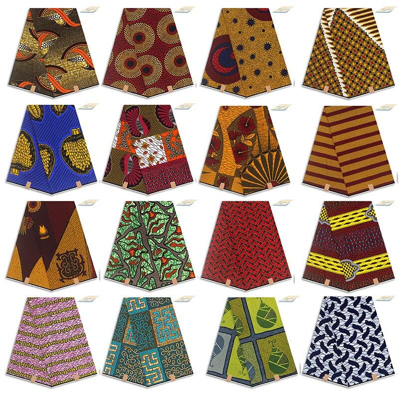 2020 dantel kumaşlar 6 metre yüksek kaliteli African100 % 100% pamuklu kumaş afrika baskılı balmumu kumaş ankara kumaş afrika gerçek balmumu pri 02