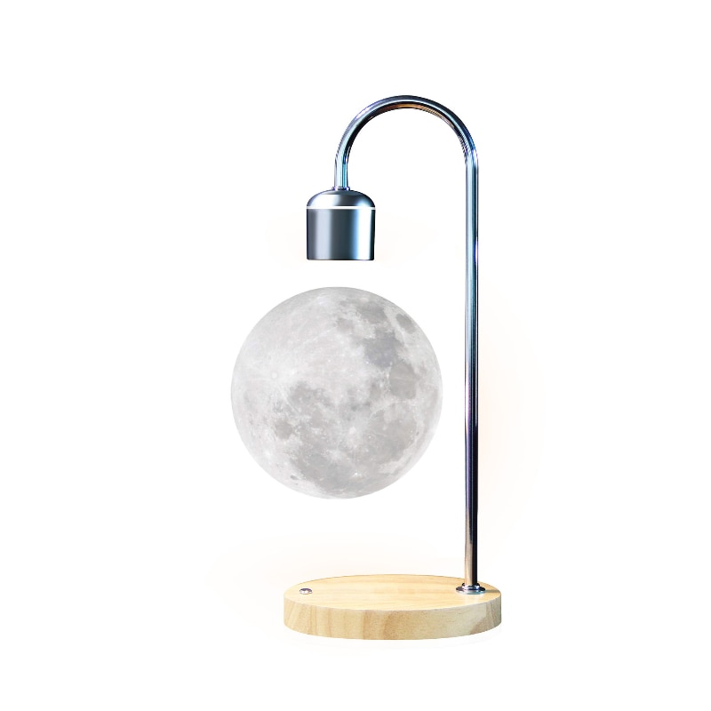 LED Moon Lamp Magnetic Levitation Lamp LED Night Light Floating Lamp LED Magnetic Light With Wireless Charging Novelty Lighting enlarge