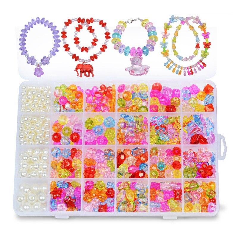 24 arten/Box Kunst Armband Perle DIY Armband Zubehör für Kinder Kinder FP8
