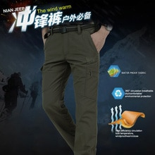 Pantalon de Combat tactique étanche pour hommes, coupe-vent, pour randonnée, chasse, Plus velours, collection automne et hiver 2020