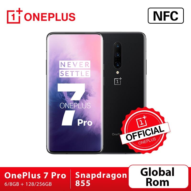 Перейти на Алиэкспресс и купить Смартфон OnePlus 7 Pro, Официальный магазин OnePlus, 6 ГБ, 128 ГБ, камера 48 МП, Snapdragon 855, экран 6,67 дюйма, 2K + AMOLED, разблокировка, UFS3.0