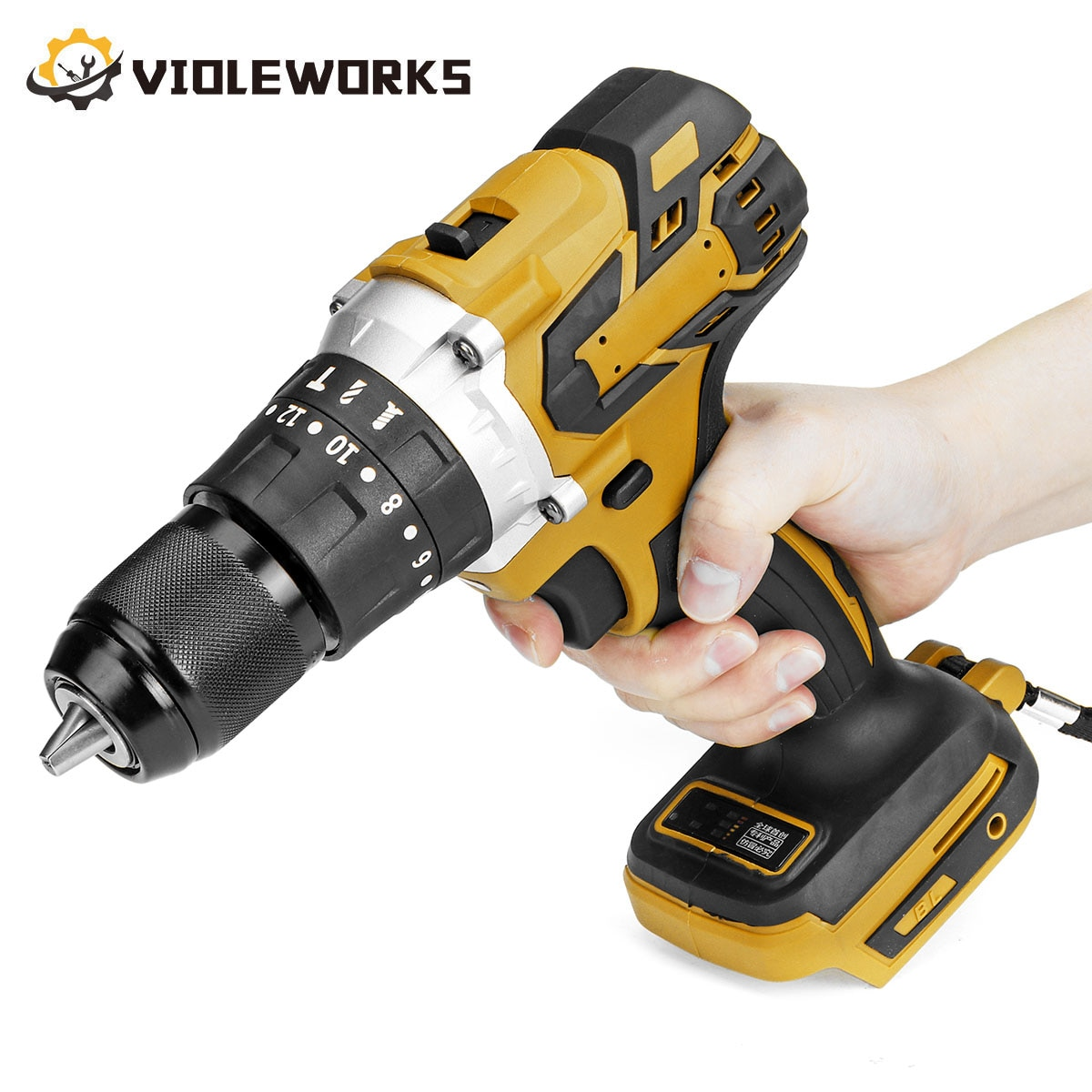 1PC 3 In 1 Brushless Electric Screwdriver Drill 20+3 Torque 13mm Cordless Impact Drill Hammer for Makita 18V Battery 3 in 1 13mm brushless electric hammer drill electric screwdriver 20 3 torque cordless impact drill for makita 18v battery