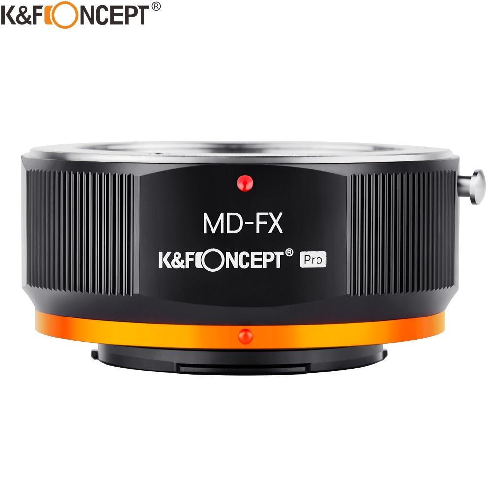 K&F CONCEPT MD-FX MD lens to Fuji X Camera Mount Adapter Ring For Minolta MD MC Lens to Fujifilm X FX Mount X-Pro1 Camera Body lr fx leica r lens to fujifilm x pro1 mount adapter black