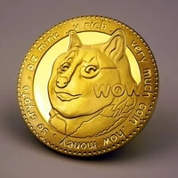 1pcs gold plated creative souvenir dogecoin coins commemorative cute dog pattern collectible art gift dog year collection coins