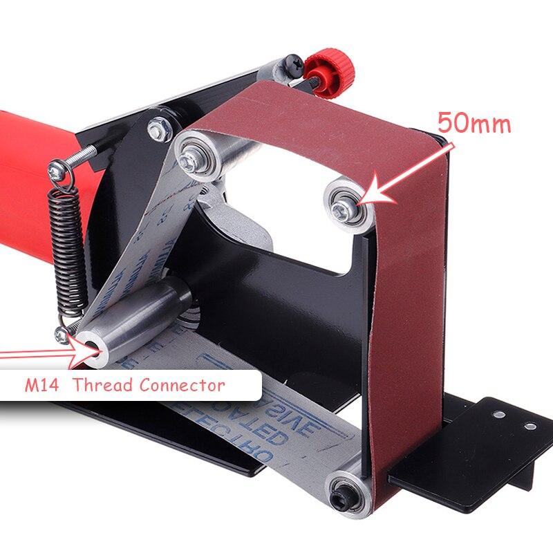 الكهربائية الحديد زاوية طاحونة حزام رملي M14 محول ل 115 125 الرملي آلة ماكينة الفرم والصقل الملحقات