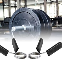 1 pair 242528mm spinlock collars barbell collar lock dumbell clips clamp weight lifting bar gym dumbbell fitness body building