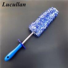 Lucullan 2020 НОВАЯ щетка для детейлинга из микрофибры со съемной головкой, прочный обод, спицы, суппорт, очиститель колеса